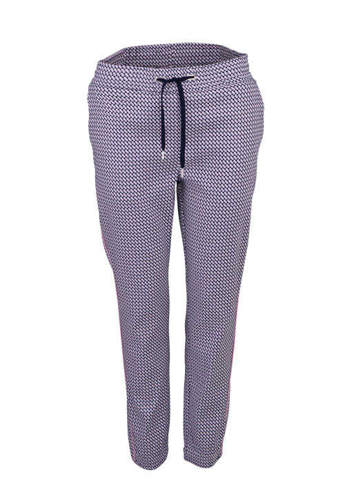 RICH&ROYAL Straight Hose Allover Muster dunkelblau
