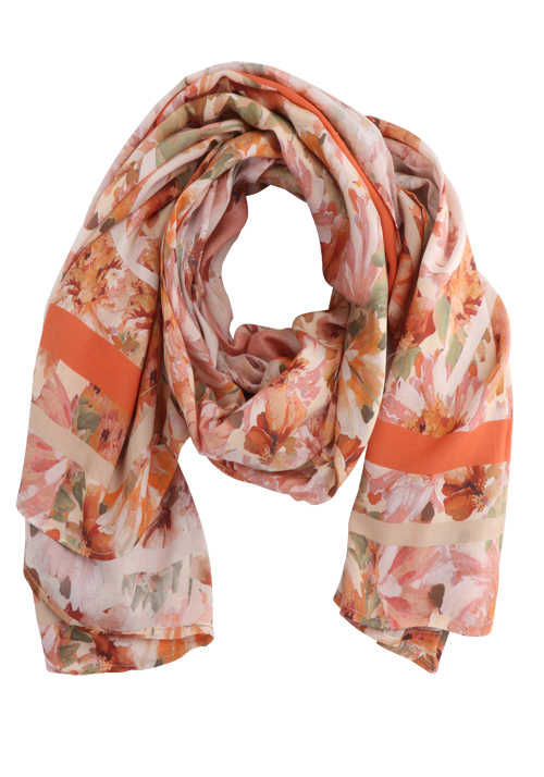 RICH&ROYAL Tuch floraler Allover-Druck Statement-Print Muster orange