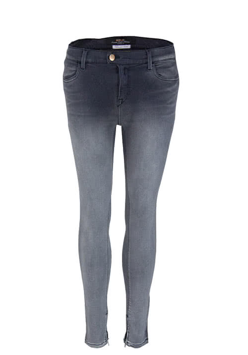 REPLAY Skinny Jeans Stretch Used dunkelgrau