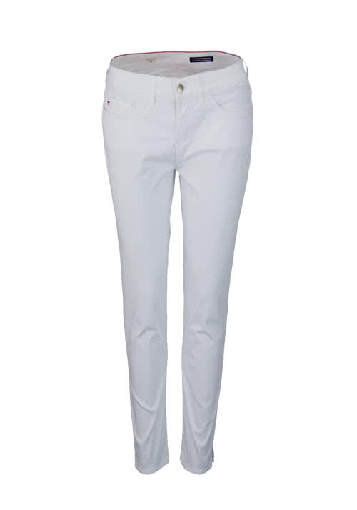 TOMMY HILFIGER 7/8 Hose SILVANA MILAN Slim Fit Stretch weiß