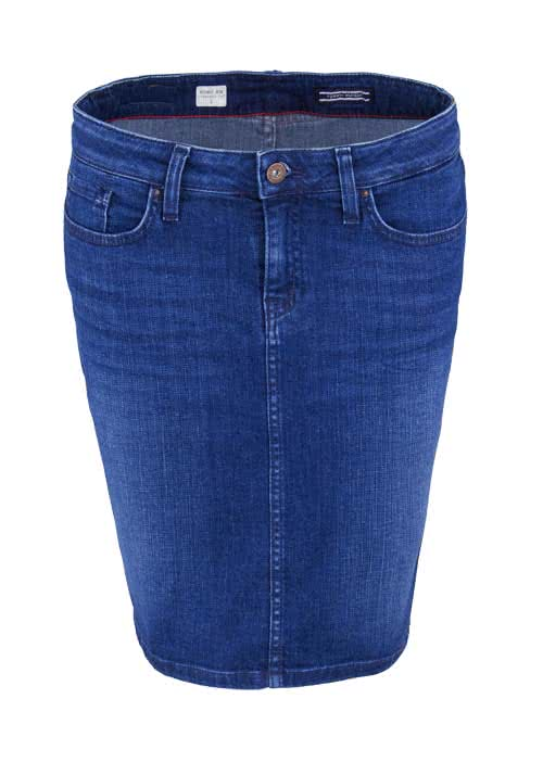 TOMMY HILFIGER Jeansrock ROME Stretch used mittelblau