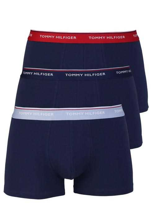 TOMMY HILFIGER Pants Gummibund Stretch 3er Pack nachtblau