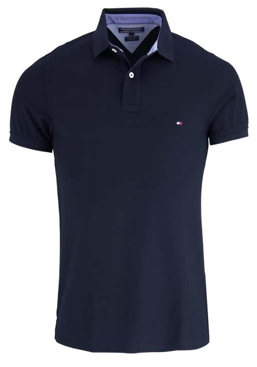 TOMMY HILFIGER Performance Poloshirt Halbarm Regular Fit  nachtblau