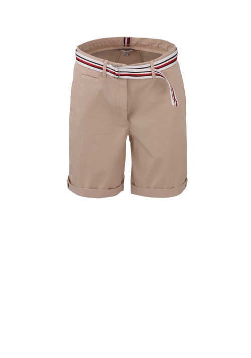 TOMMY HILFIGER Shorts Button-Zipp-Verschluss 5-Pocket beige