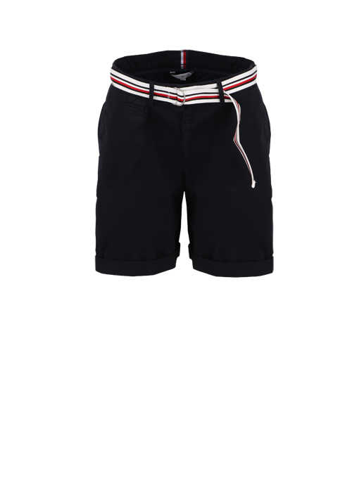 TOMMY HILFIGER Shorts Button-Zipp-Verschluss 5-Pocket dunkelblau