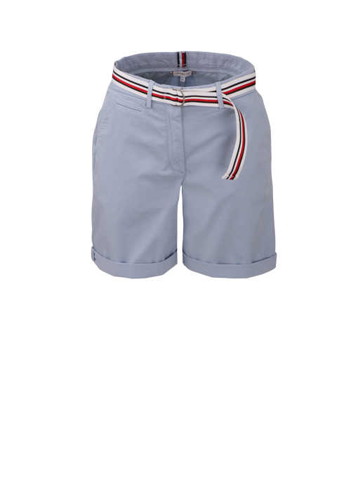 TOMMY HILFIGER Shorts Button-Zipp-Verschluss 5-Pocket eisblau