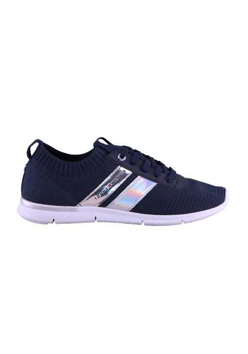 TOMMY HILFIGER Sneaker CORPORATE Schnürer Stretch Socke nachtblau