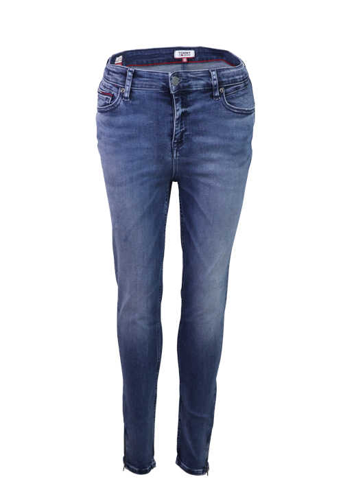TOMMY JEANS Dynamic Premium Stretch Jeans 5 Pocket destroy mittelblau