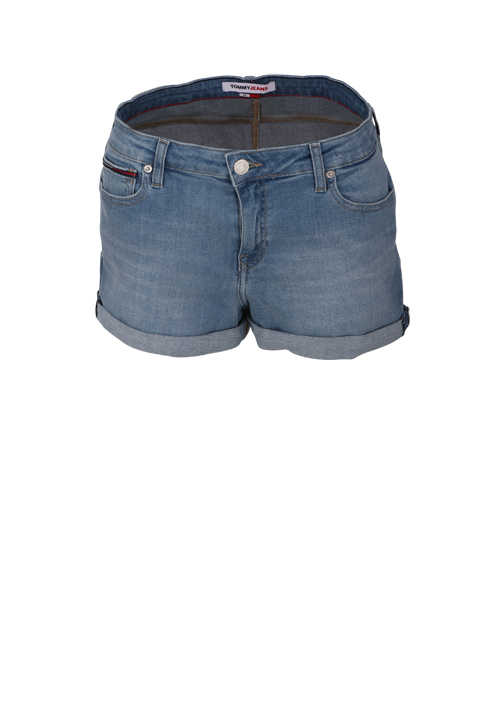 TOMMY JEANS Hotpants Button-Zipp-Verschluss 5-Pocket hellblau