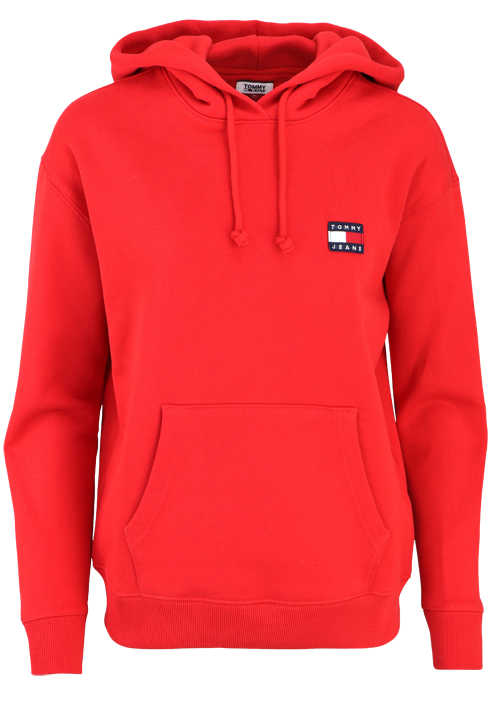 TOMMY JEANS Langarm Hoodie Kapuze Oversize mittelrot
