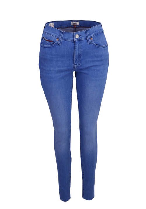 TOMMY JEANS Skinny Jeans Ankle 5 Pocket mittelblau