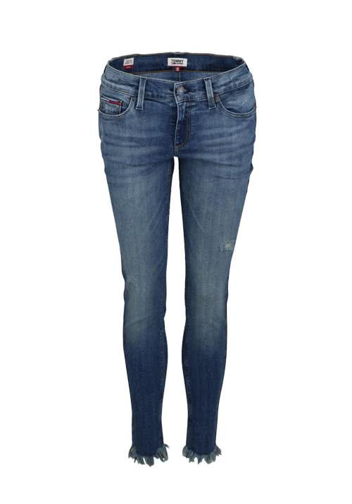 TOMMY JEANS Skinny Jeans Used Destroy Stretch mittelblau