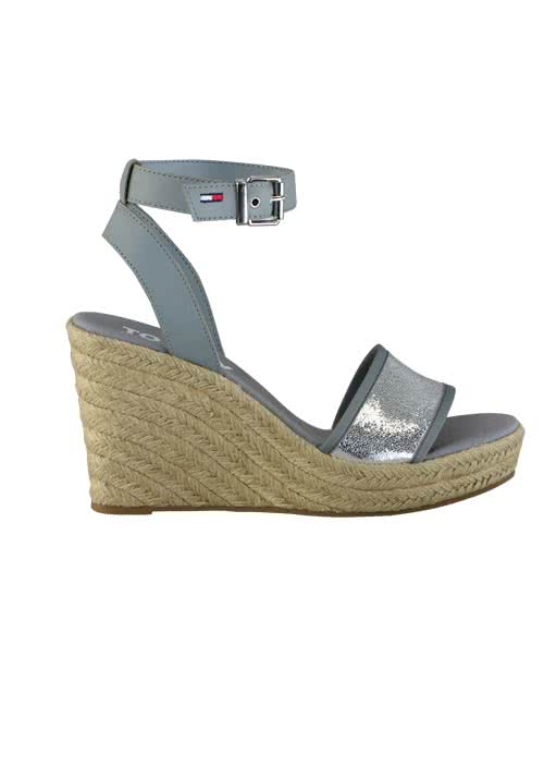 e8ac2c959d5 TOMMY JEANS Wedges metallic Keilabsatz silber